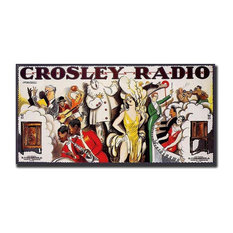 Crosley Radio Advertising Poster Reproduction on Canvas