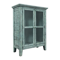 Rustic Shores Surfside 32-inch Accent Cabinet  Blue With Gray Green Undertones