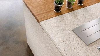 IceStone White Pearl Counter