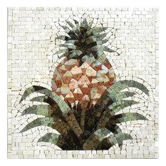 "Mosaic Kitchen Backsplash, Pineapple, 24""x24"""