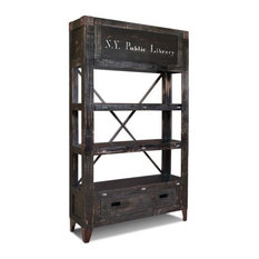 Crafters And Weavers Reclaimed Solid Wood Graffiti Bookshelf Bookcases