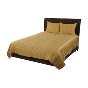Rizzy Home 3 Piece King QuiLight Set, Gold
