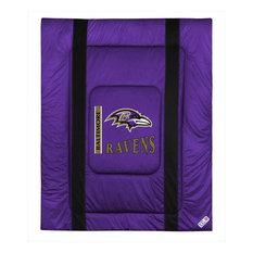 NFL Baltimore Ravens Twin Comforter Sidelines Football Bed