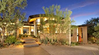Modern Hillside | Entry with Desert Landscape