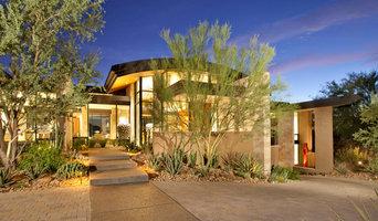 Modern Hillside   Entry with Desert Landscape