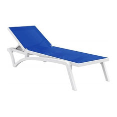 Pacific Sling Chaise Lounge, Blue, Set of 2