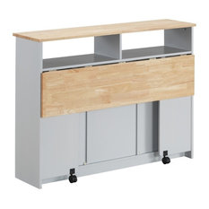 Contemporary Jorim Cart With Natural And Gray Finish 98398