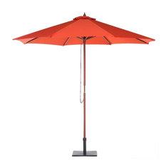 Toscana Garden Parasol With Birch Mast, Red