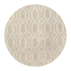 Solid and Border 7'9  x7'9   Neutral Area Rug