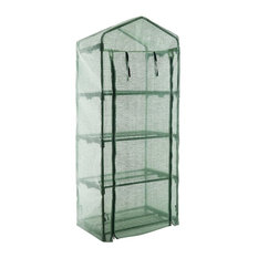 4-Tier Mini Portable Garden Greenhouse Plants Shed Hot House for Indoor Outdoor
