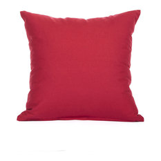 """Solid Red Accent, Throw Pillow Cover, 18""""x18"""""""