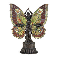 "Meyda Lighting 17""H Butterfly Lady Accent Lamp, 59Rwg Pbxa Flw"