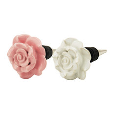 Country Cottage Ceramic Rose Stoppers by Twine