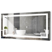 "Kent LED Bathroom Mirror With Touch Sensor, 60""x30"""