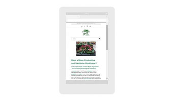 Design of new mobile-friendly website for established plantscaping firm