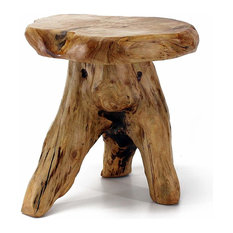Outdoor/Indoor Wood Stump Mushroom Stool