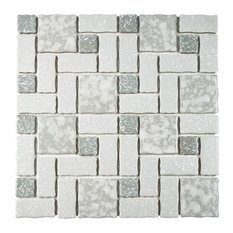 "11.75""x11.75"" Collegiate Porcelain Mosaic Floor/Wall Tile, Gray"