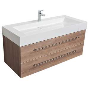 Emotion Design 1200 Bathroom Furniture, Light Oak Semi-Gloss, 119 cm
