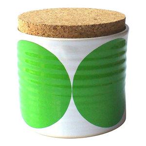 Spots Tea Jar, Green
