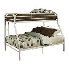 Tritan Bunk Bed, White, Twin Over Full