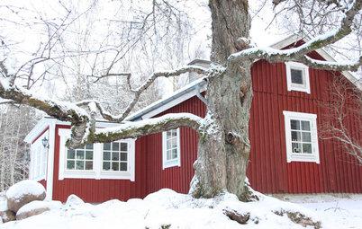 Houzz Tour: I det röda torpet i Karlsborg firas en riktigt lantlig jul
