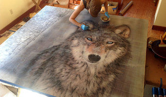 "Montana Residential Commission, Yellowstone Club, grey wolf, 76x73"", fall 2013.."