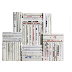 Decorative Books Modern White Wrapped Book Wall Set Of 50