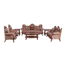 European Furniture - Tiziano II 3 Piece Luxury Living Room Set In Light Gold & A