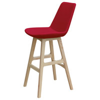 Eiffel Prw Stools, Natural Ash Base, Red Ppm