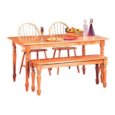 Coaster Fine Furniture   Coaster Damen Rectangular Leg Dining Table In Warm  Natural Wood Finish