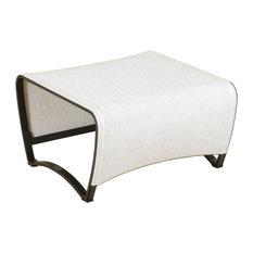 Les Jardins   Jet Stream Footstool, Linen White   Garden Footstools U0026  Ottomans