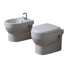 Tuckett Wall-Mounted Toilet and Bidet Set