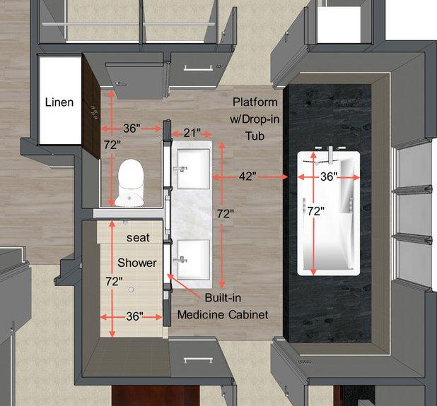 Master Bathroom Dimensions Design Basics To Help You Think Through A New Master Bath