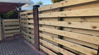 Our custom wood fence projects