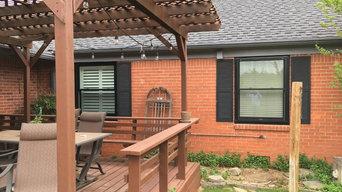 Nichols Hills - Pella 450 Series Windows - Wood Interior - Black Metal Clad Ext.