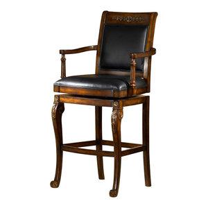 Hillsdale Furniture Lyman Swivel Counter Stool Rustic Oak