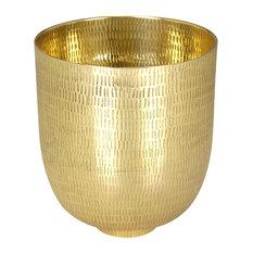 Kaas Au Carré Medium Decorative Bowl, Polished Brass