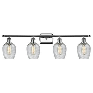4-Light Bath Light Polished Chrome With LED Vintage Bulbs
