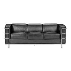 Zuo Fortress Modern Sofa, Black