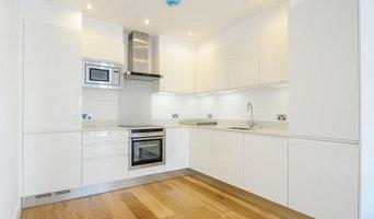 Finchley apartment block in Compac Glaciar quartz