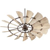 """Windmill 72"""" Ceiling Fan, Oiled Bronze"""
