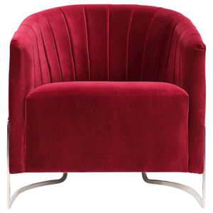 Internu Velvet and Steel Armchair