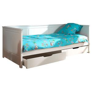 Pino Bedroom Set, White, Drawers