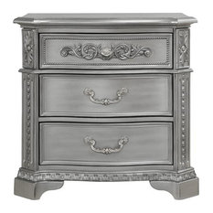 Global Furniture USA Juliet Antique Silver Nightstand