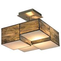 Elk Lighting Cubist Semi-Flush Mount Ceiling Fixture, Brushed Nickel