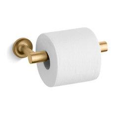 Kohler Purist Pivoting Toilet Tissue Holder, Vibrant Moderne Brushed Gold