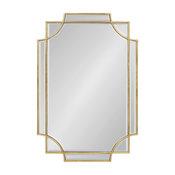 Minuette Decorative Rectangle Wall Mirror, Gold 24x36