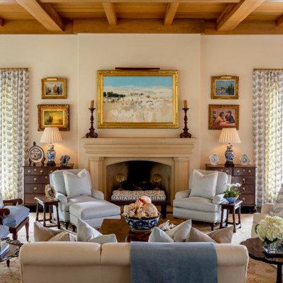 Living room - coastal living room idea in Jacksonville