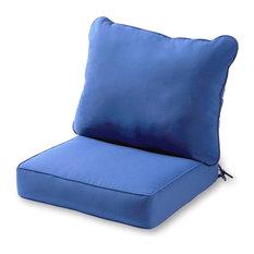 Outdoor 2-Piece Deep Seat Cushion Set, Marine