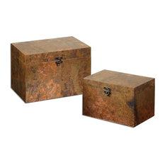 """""""Artesana"""" Copper Boxes, Set of 2, 2-Piece Set"""